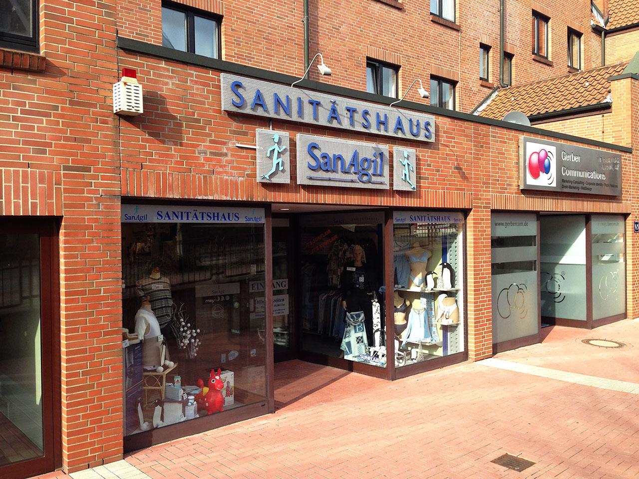 SanAgil Sanitätshaus Porta Westfalica, Hauptstraße 30, Außenansicht